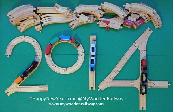 Happy New Year 2014 from My Wooden Railway